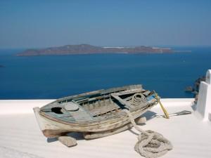 Île de Santorin, Archipel des Cyclades,Grèce
